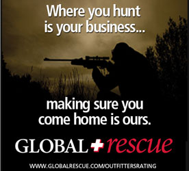 Global Rescue offers evacuation and medical services insurance for Outfitters Rating Team members as well as hunters, anglers and adventurers around the world.